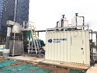 新型水力旋流絮凝设备——应用于深圳市前海某工地基坑泥浆水处理